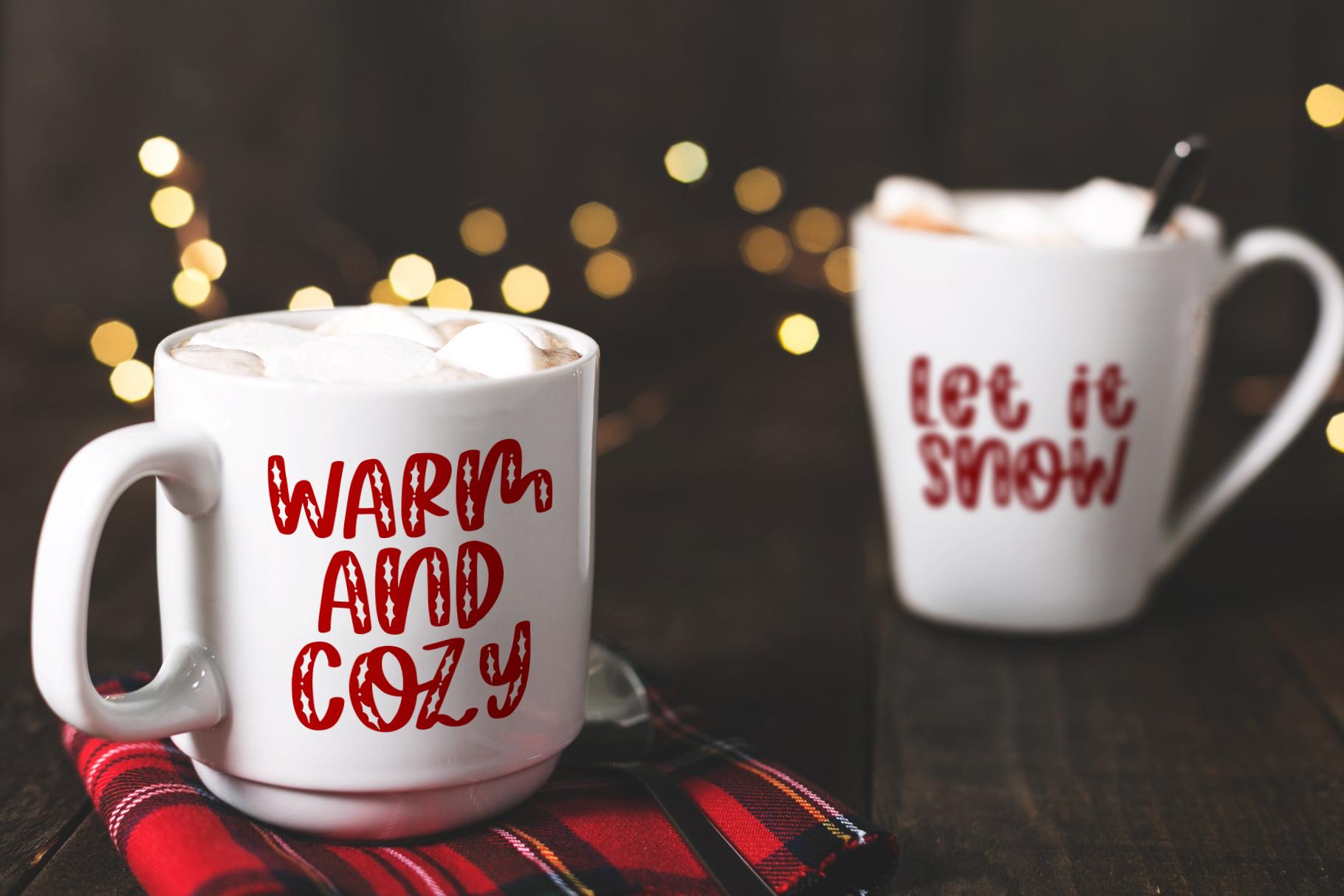 Happy Hollydays, A Christmas Mistletoe Font example image 3
