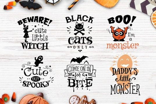 Halloween bundle 40 SVG , Eps, Dxf, Png for Cricu example image 4