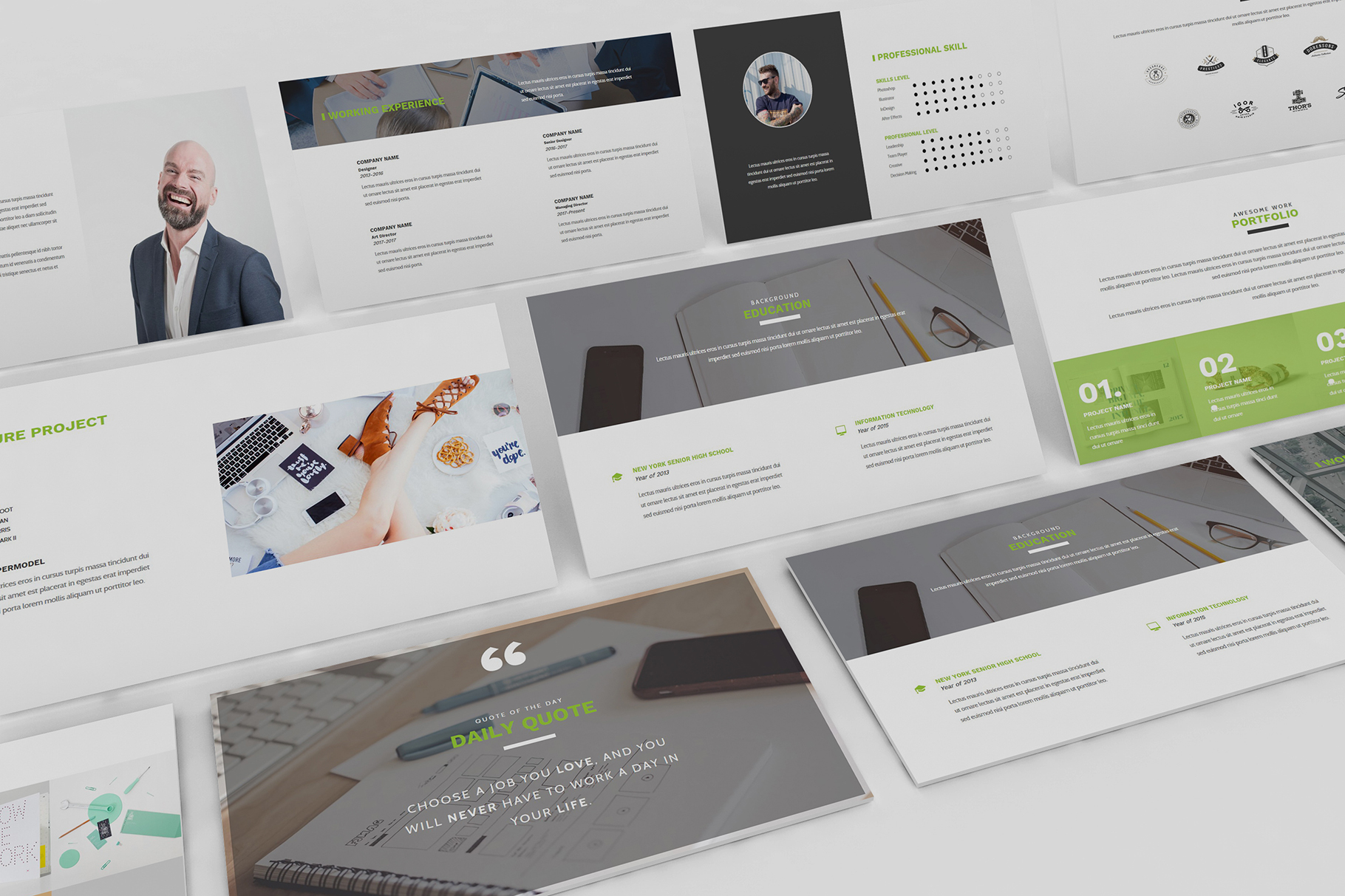 Resume CV Powerpoint Template example image 6