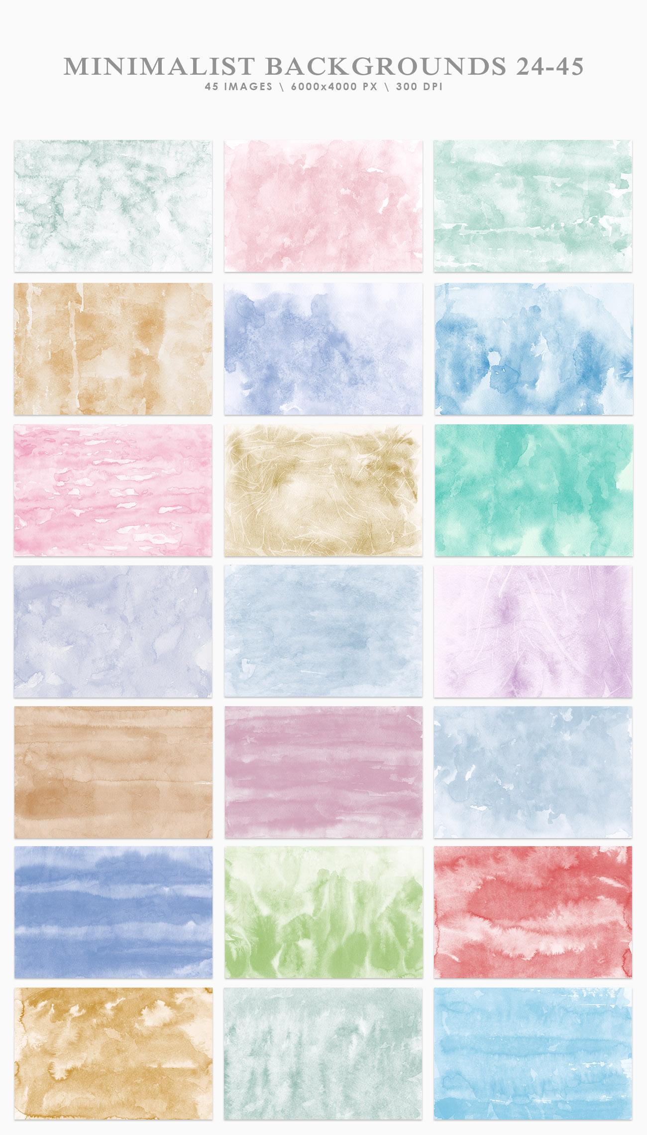 Minimalist Watercolor Backgrounds example image 3