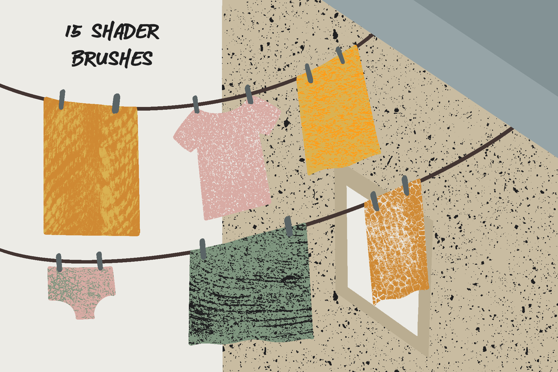 Texture shader brushes for procreate example image 2
