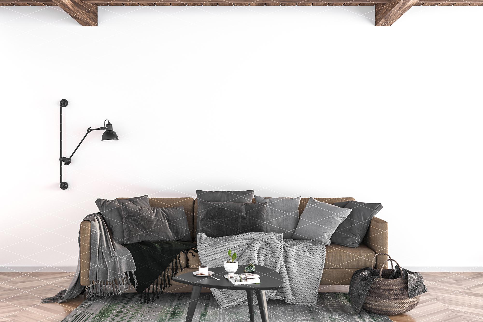 Wall mockup - wallpaper mock up example image 8