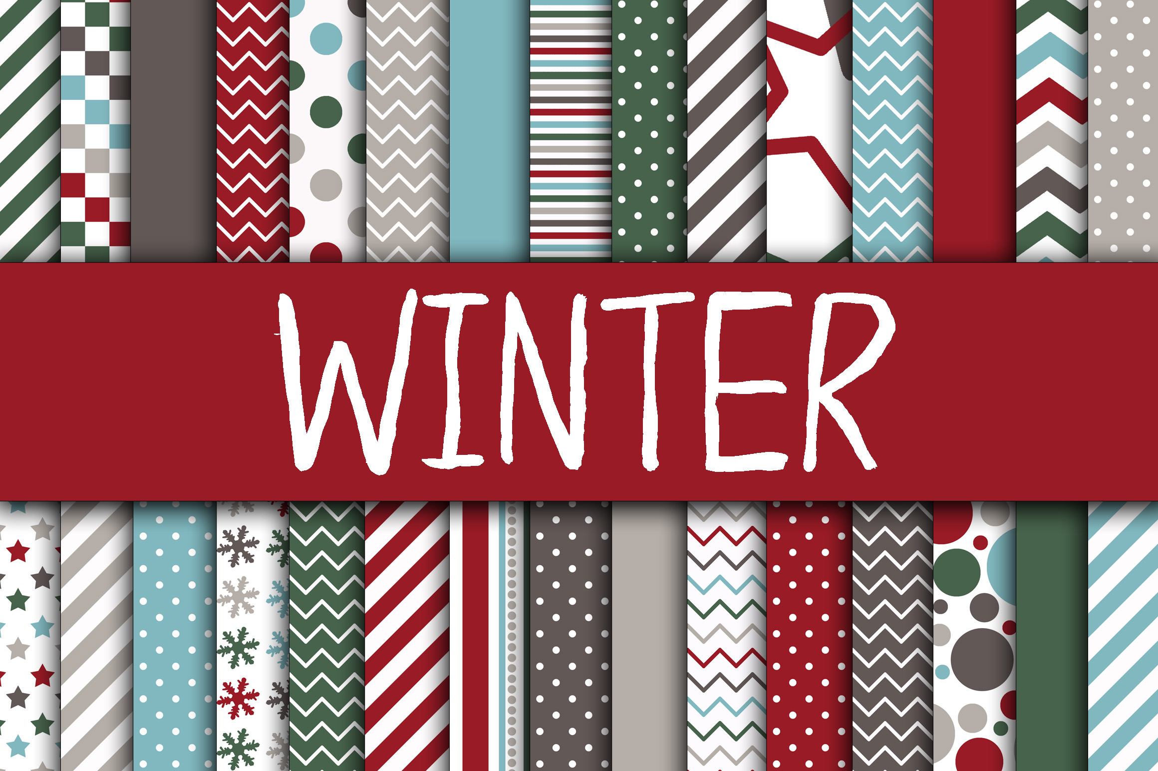 Christmas Bundle - Includes Over 200 Digital Papers example image 3