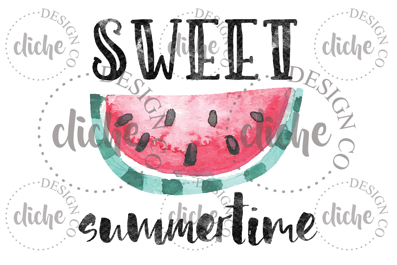 Sweet Summertime Sublimation Design example image 1