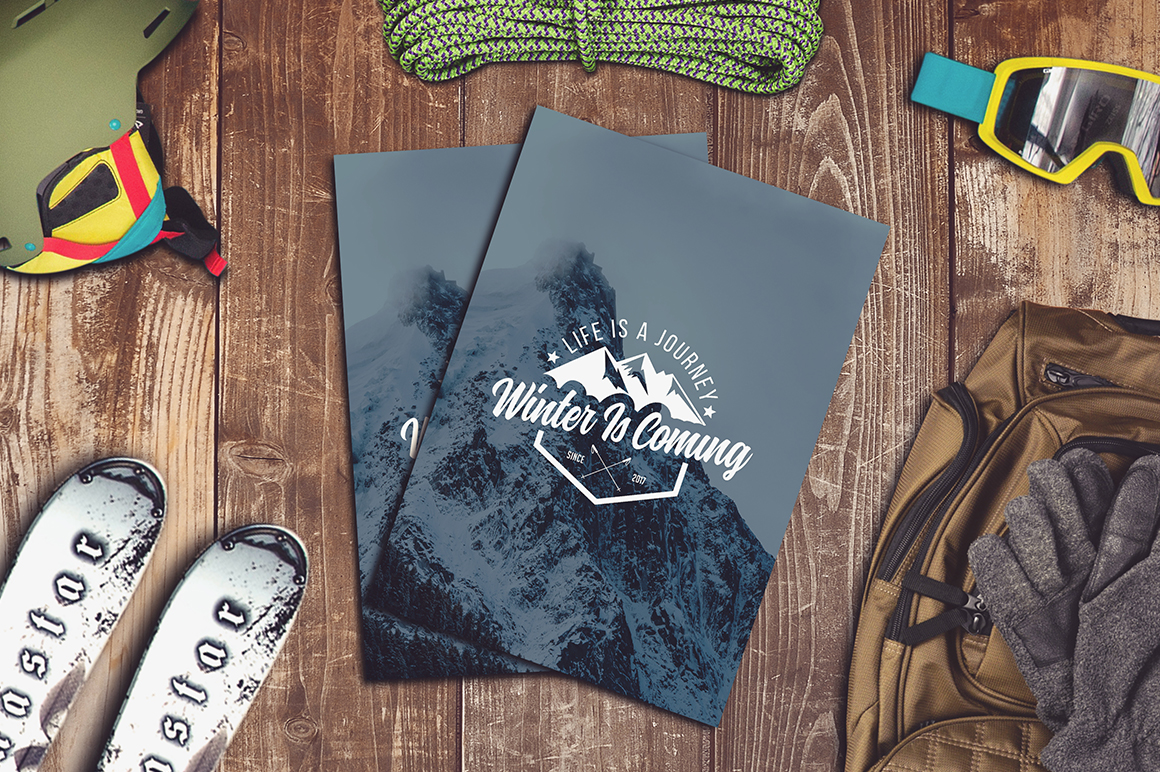 Winter Sports Mock-up Big Pack #1 example image 4