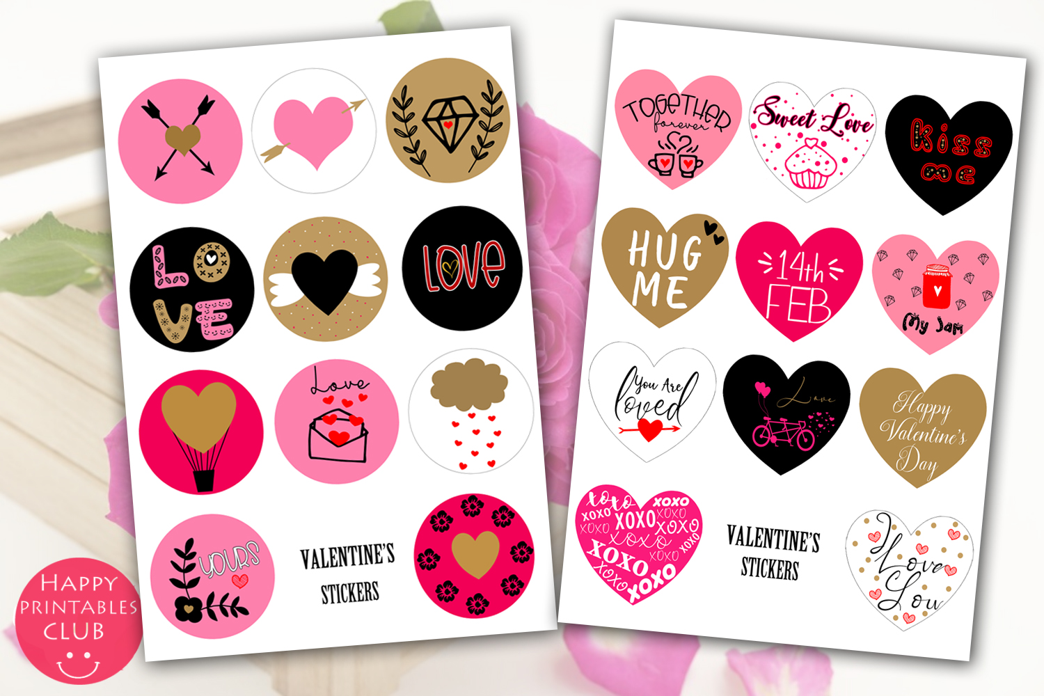 Valentines Day Stickers- Cute Stickers Valentines Day example image 2