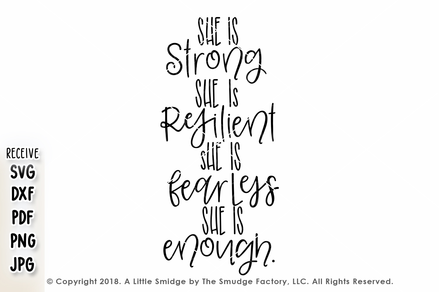 She Is Strong, She Is Resilient SVG example image 2