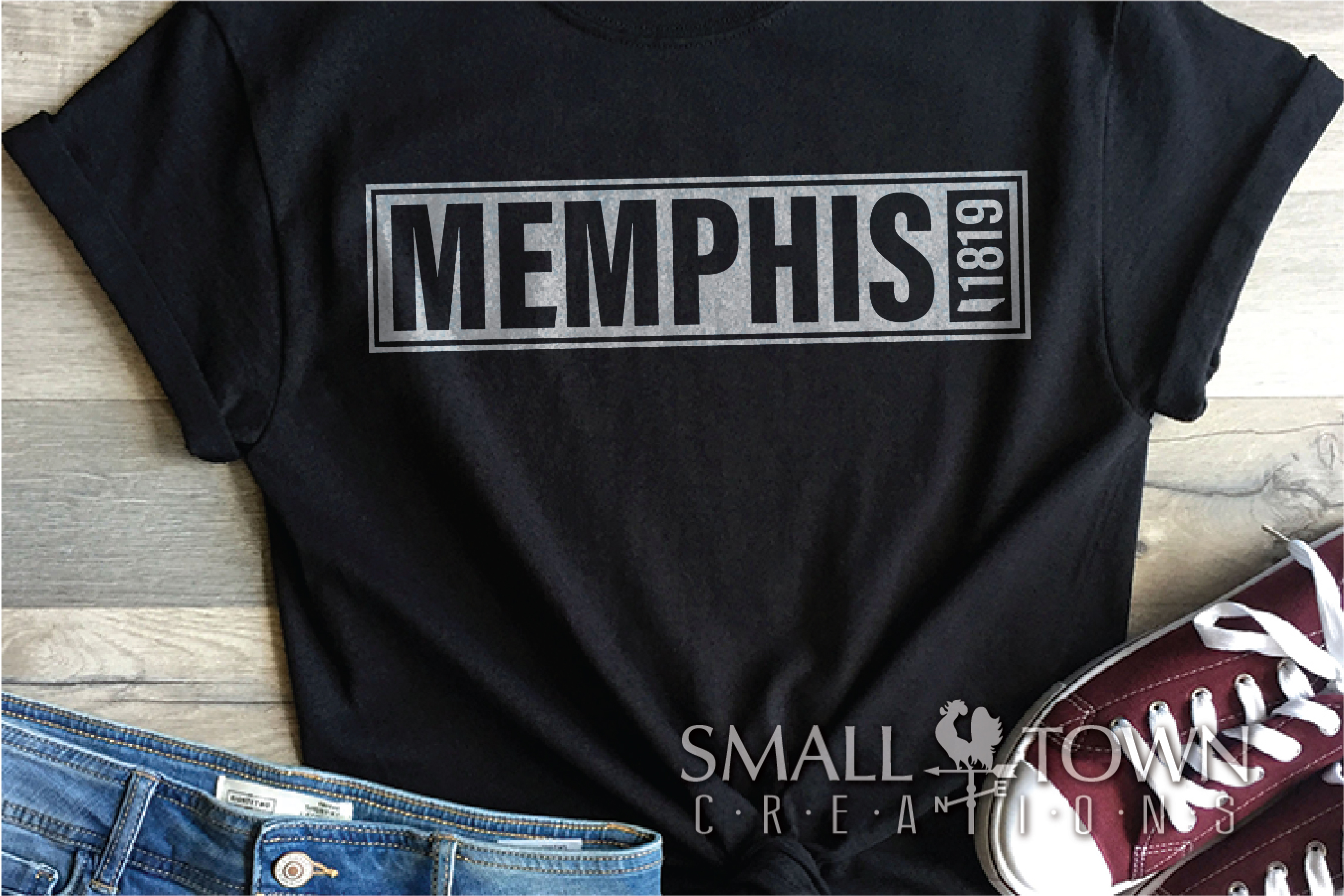 Memphis, Birthplace of Rock & Roll, Tennessee, PRINT, & CUT example image 2