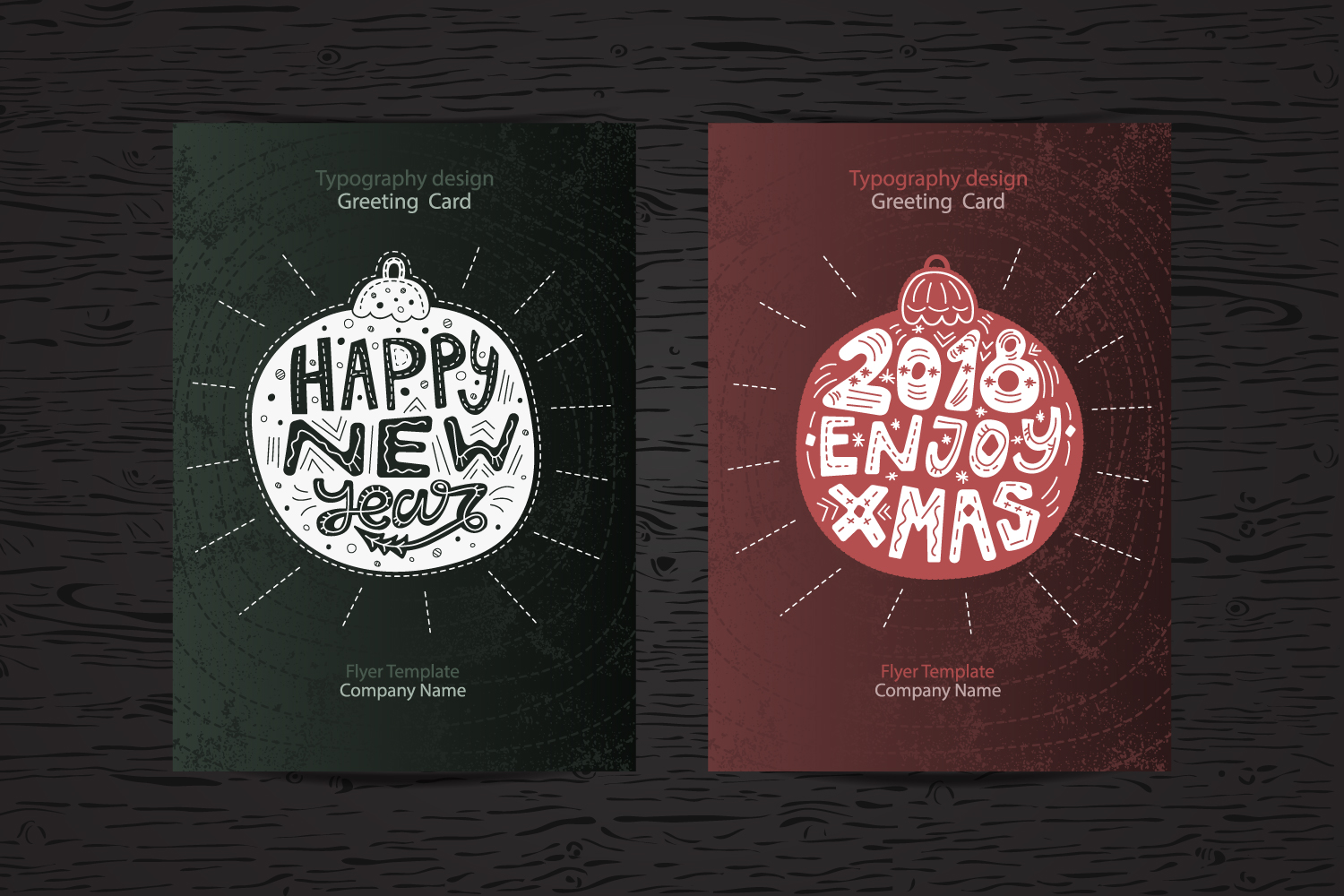 New Year cards&Typography example image 2