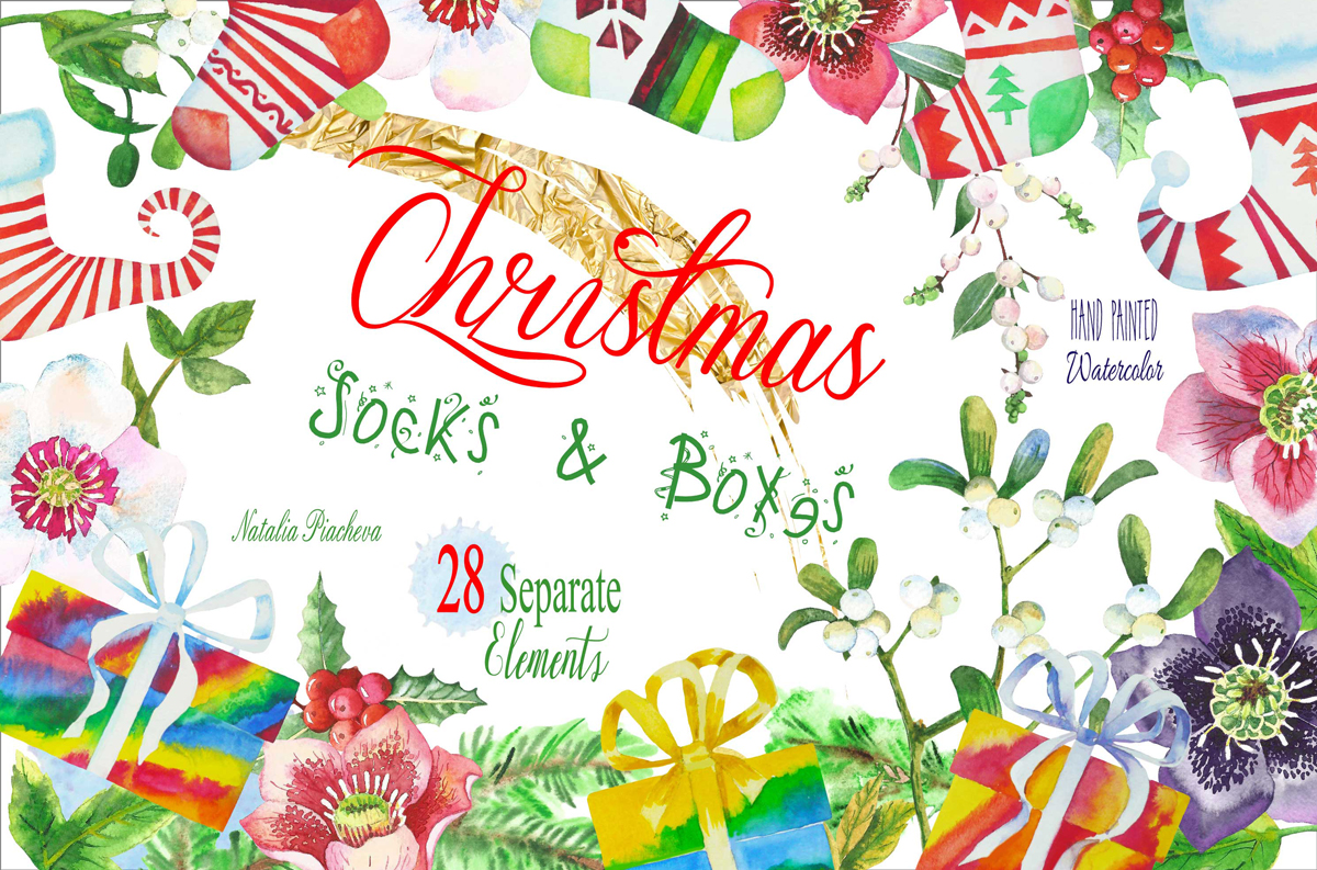 Christmas Socks and Boxes example image 1