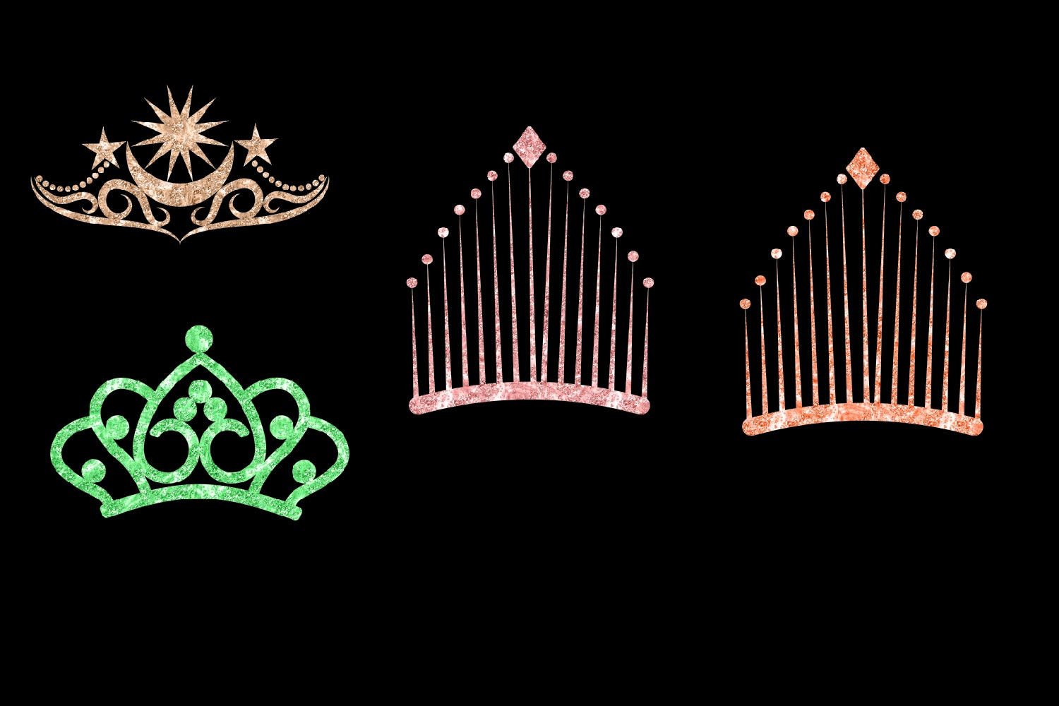 Glitter Crowns Clipart example image 3