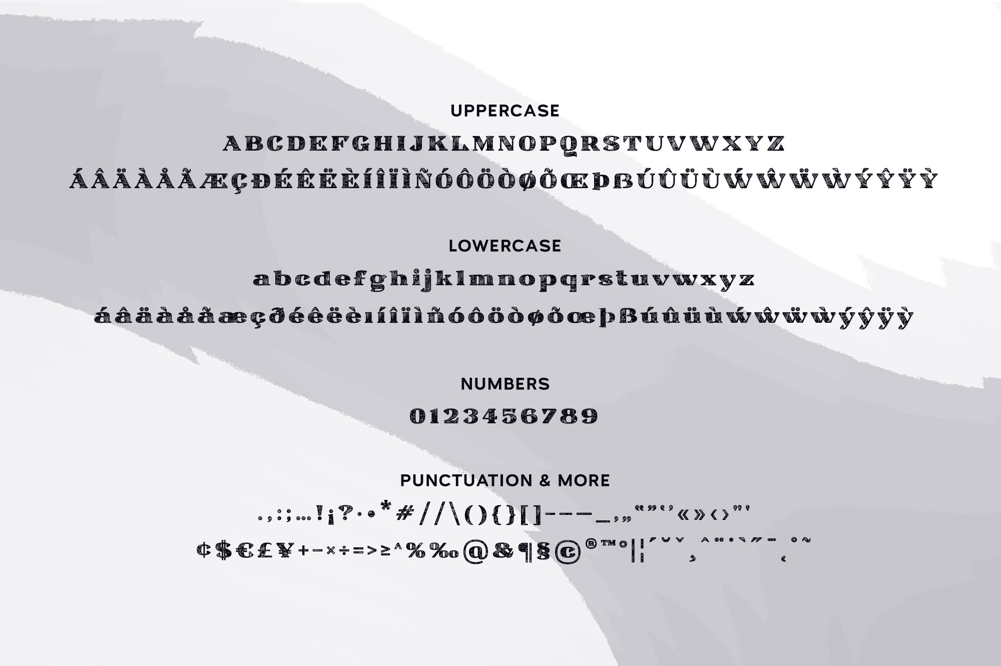 Ardin | Distressed Wedge Serif example image 7