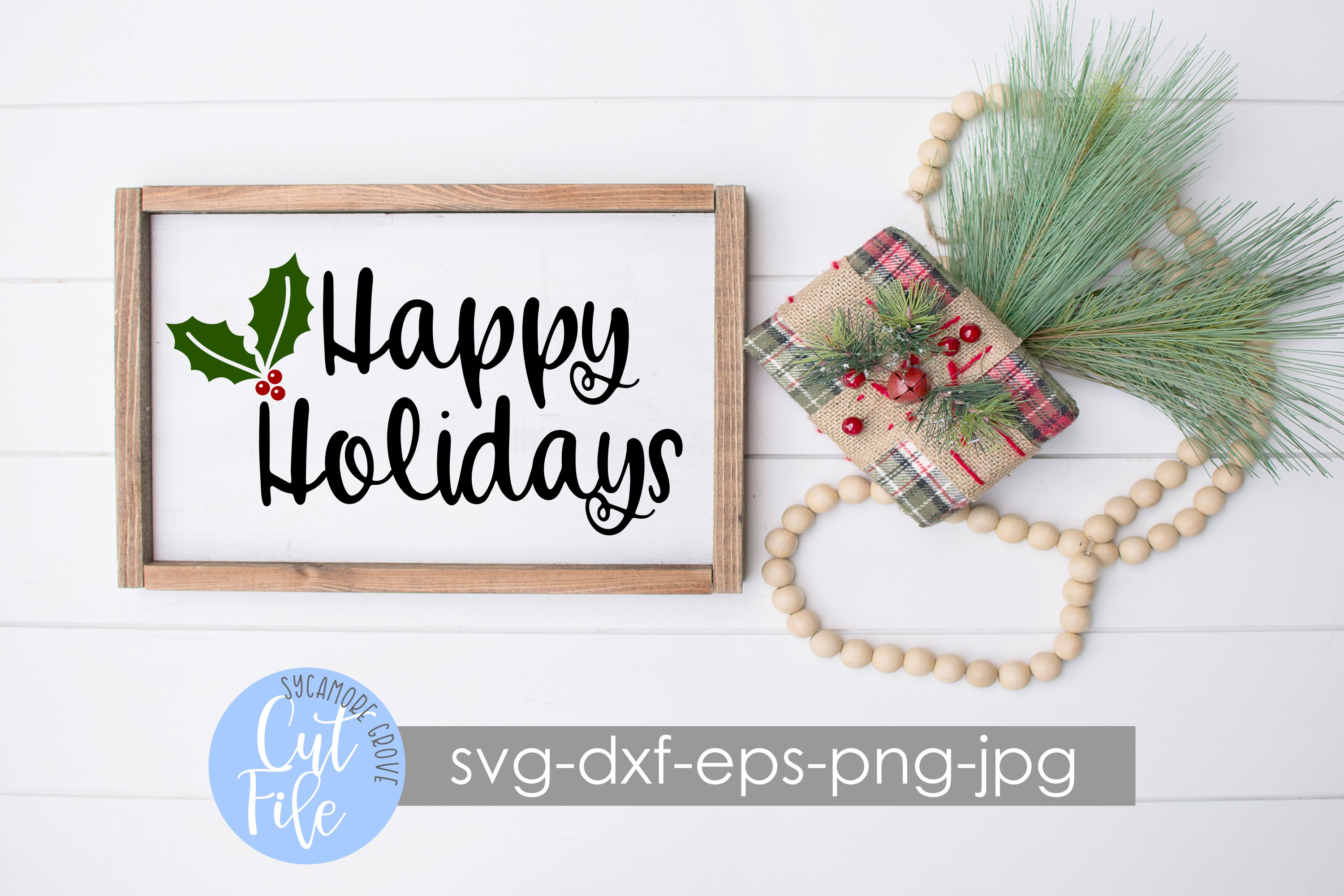 Happy Holidays SVG example image 3