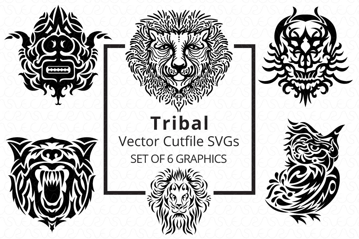 SVG Cutfiles Bundle-1 with 200 Unique Shapes example image 5
