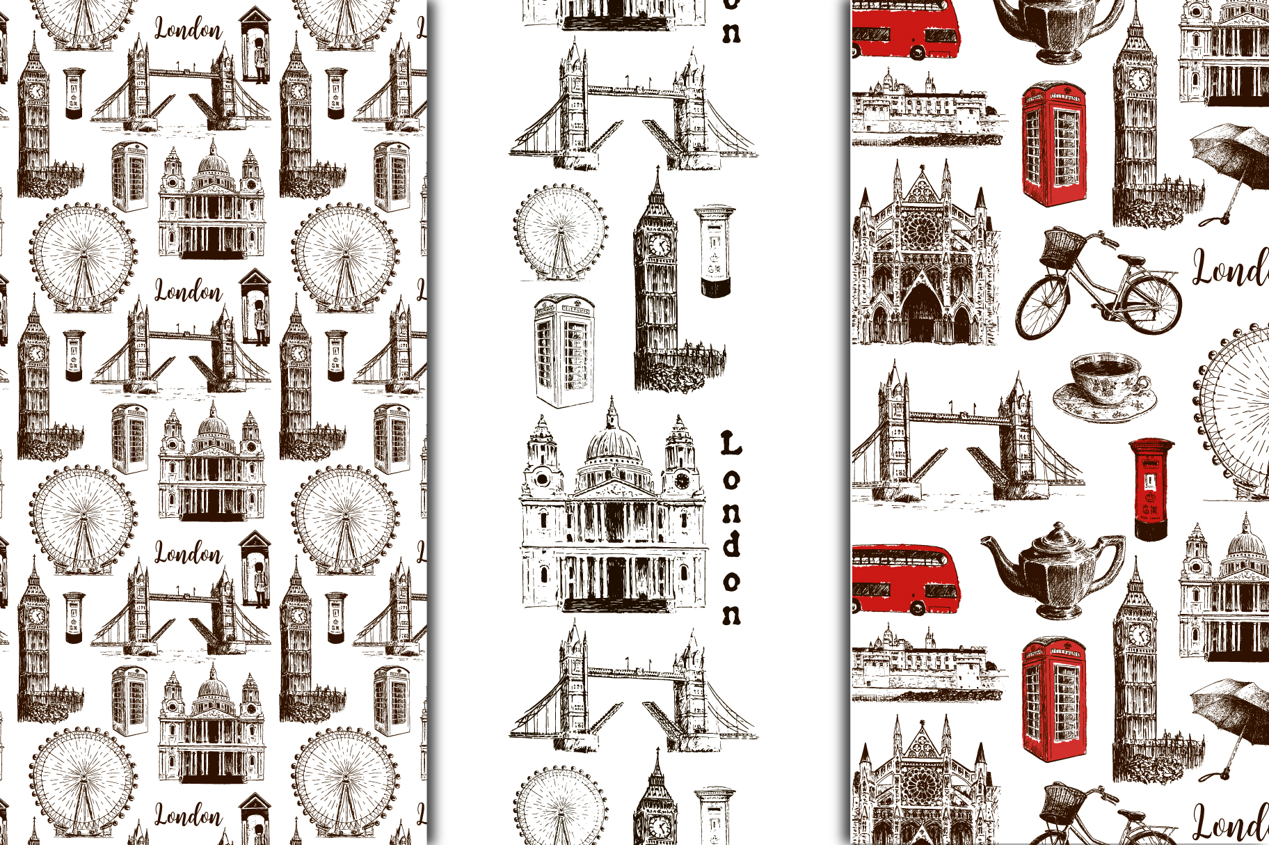 Set of London sketches example image 5