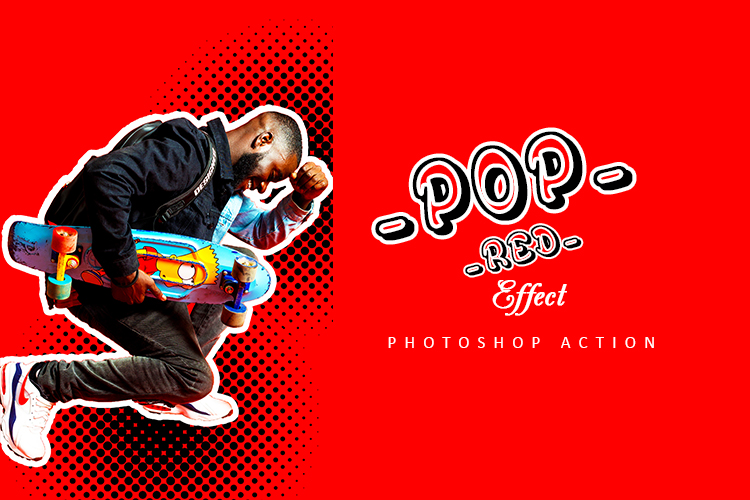 Pop Red Effect Photoshop Action example image 2