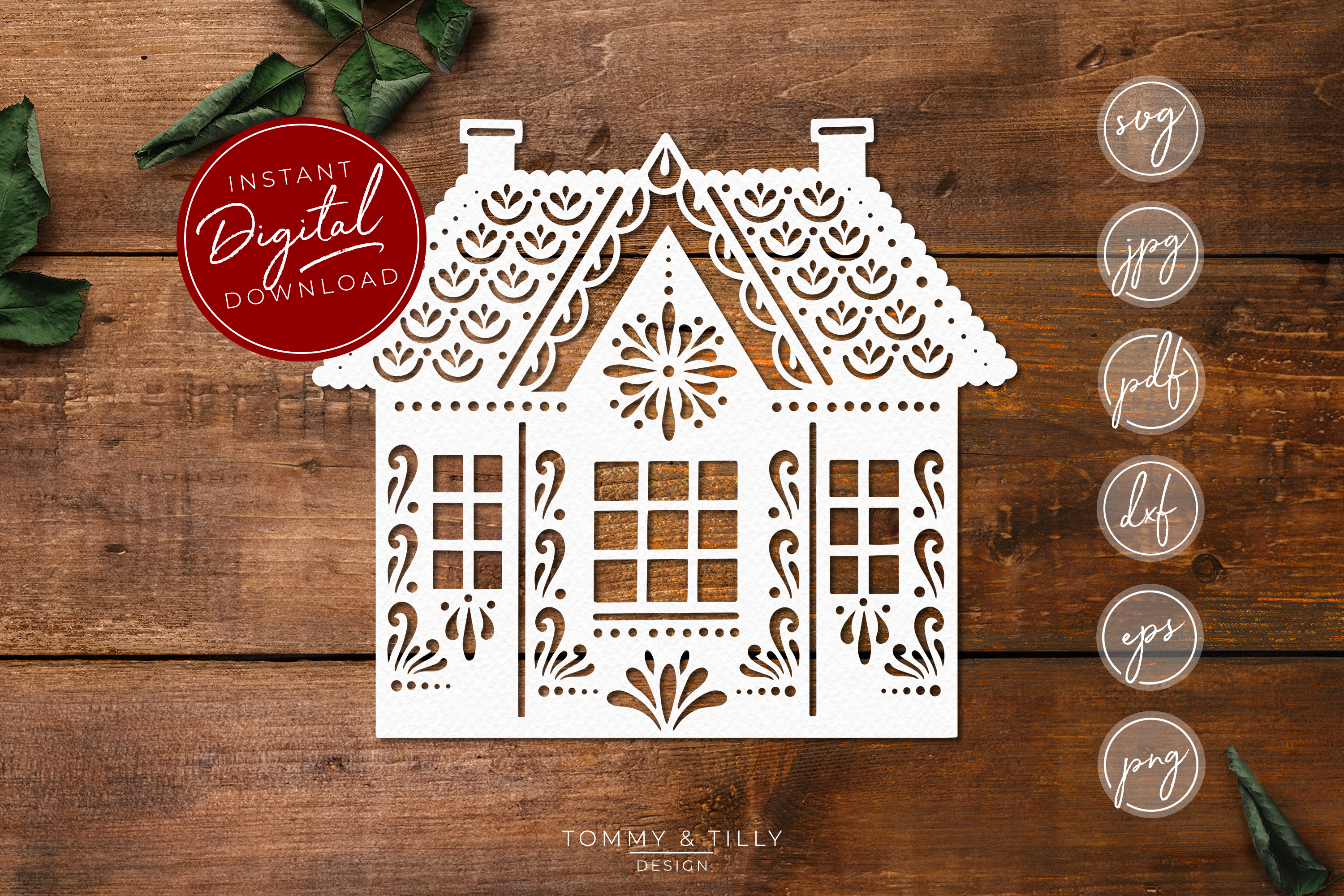 Intricate House No.2 - SVG EPS DXF PNG PDF JPG Cut File example image 1