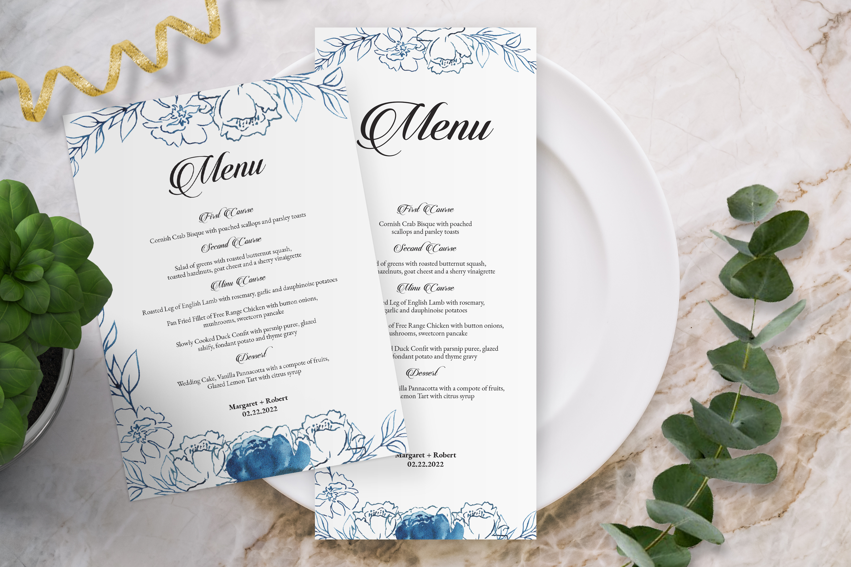 wedding menu card template 298274  card making  design