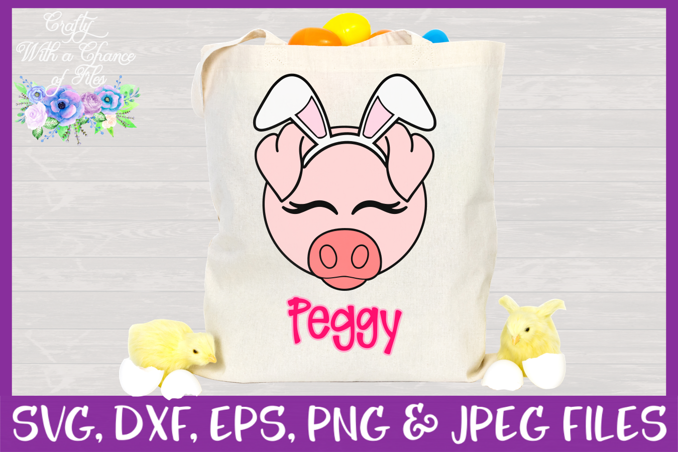 Easter   Pig Face SVG Cut File example image 2