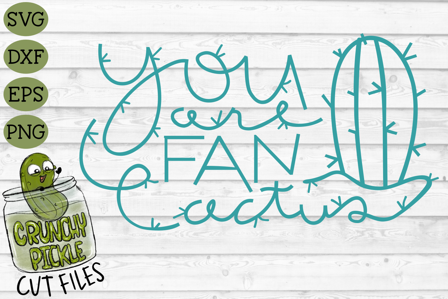 You Are Fan Cactus SVG Cut File - A Positive Cactus Pun example image 2