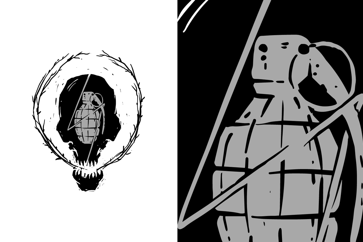 20 VECTOR skull illustration example image 11