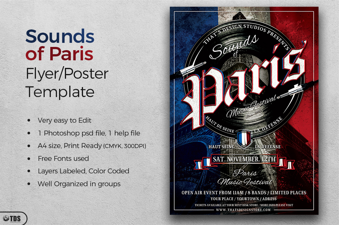 Sounds of Paris Flyer Template example image 2