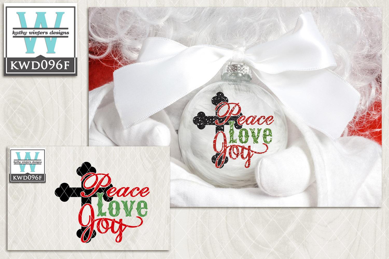Christmas SVG - Peace Love Joy KWD096F example image 2