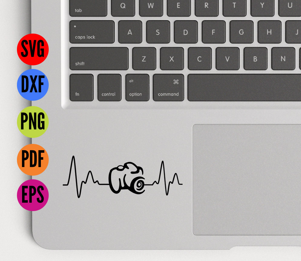 Camera Heartbeat SVG Cutting File  example image 4