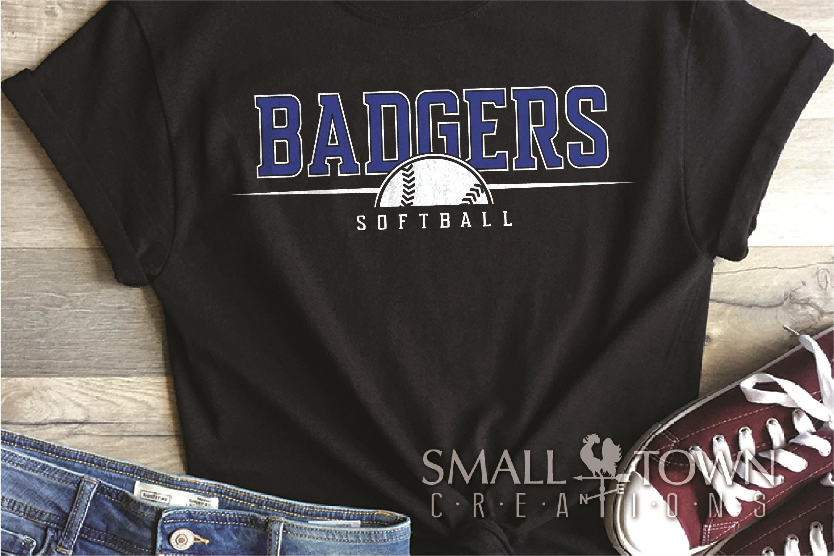 Badger, Badger Softball Team, Sport, PRINT, CUT & DESIGN example image 1
