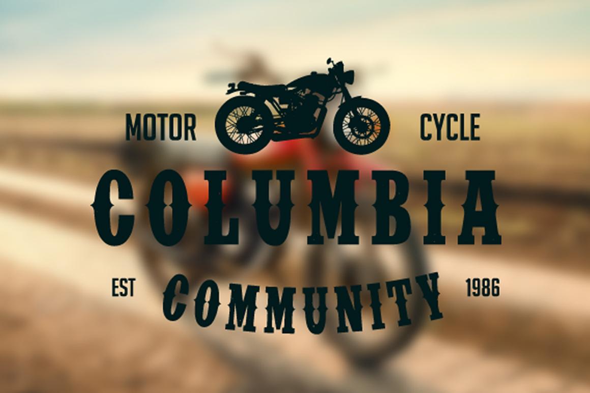 Vintage Badges Motorcycle example image 2