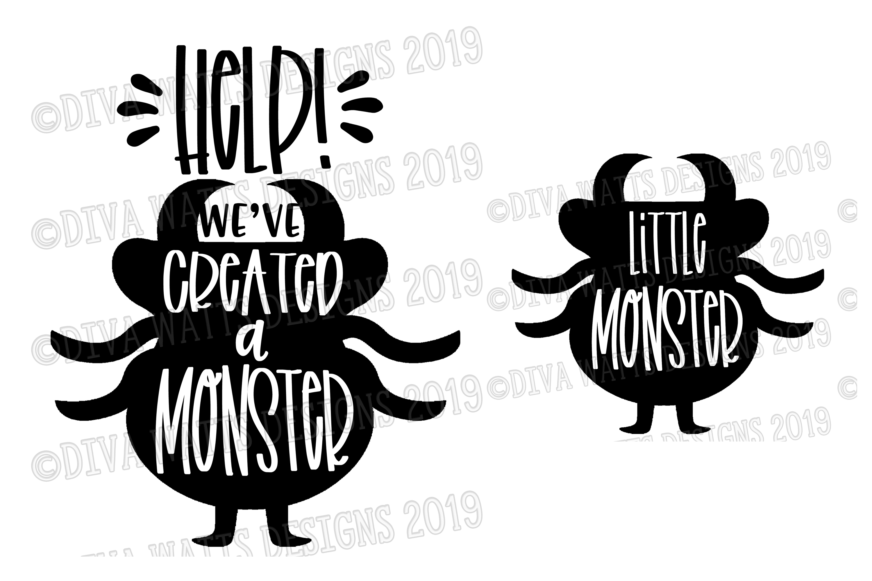 Help! I've We've Created A Monster Halloween Cutting File example image 3