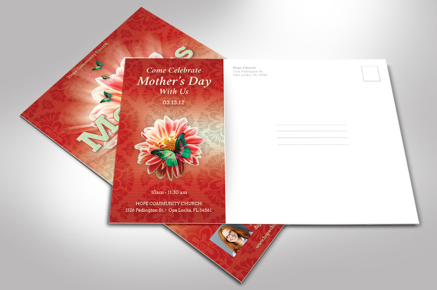 Mothers Day Flyer Photoshop Template example image 7
