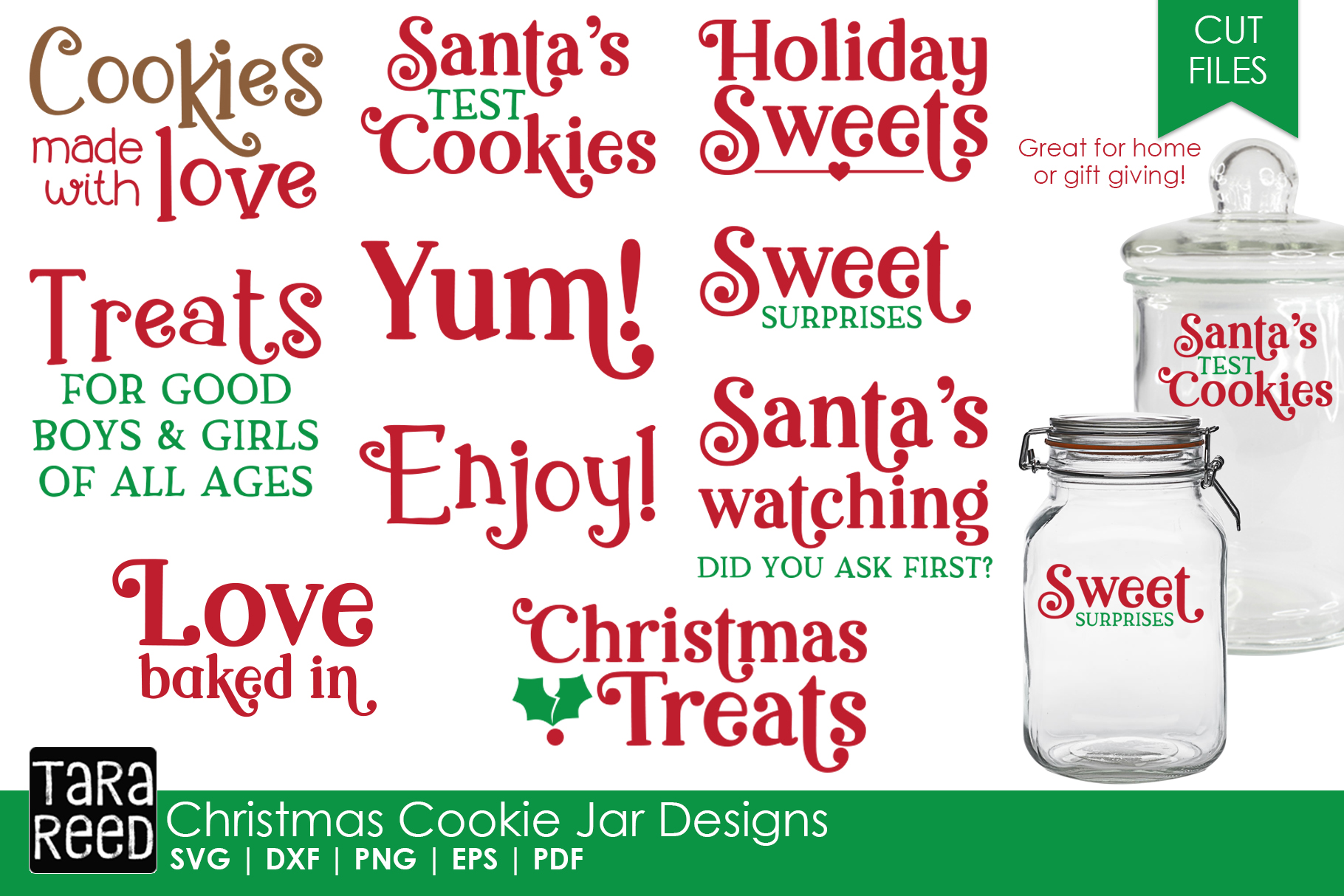 Christmas Cookie Jar - Christmas SVG Files for Crafters example image 1