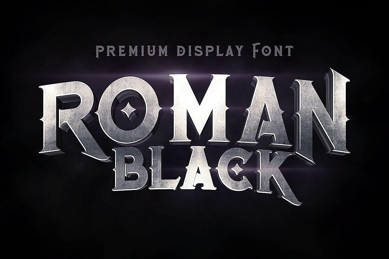 Roman Black - 8 Display Fonts example image 5