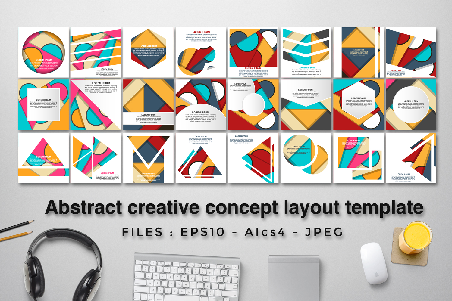 24 Abstract creative concept layout template example image 2