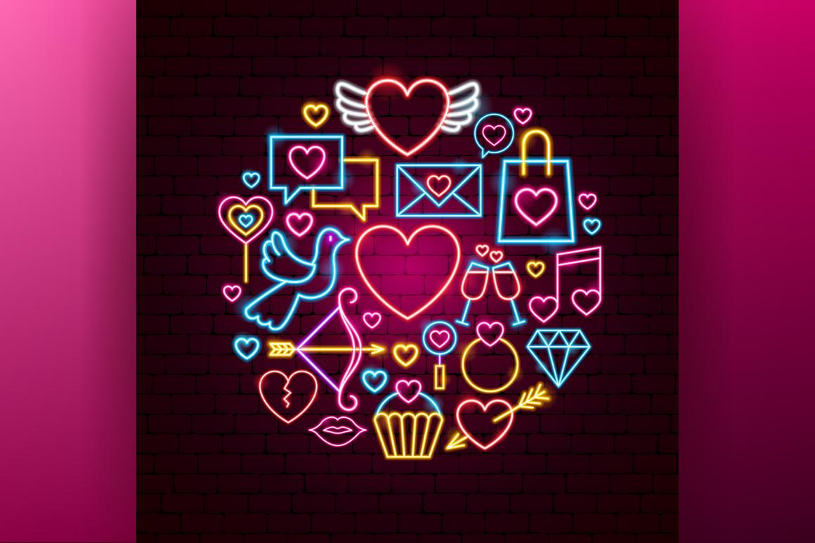 Valentine's Day Neon example image 5