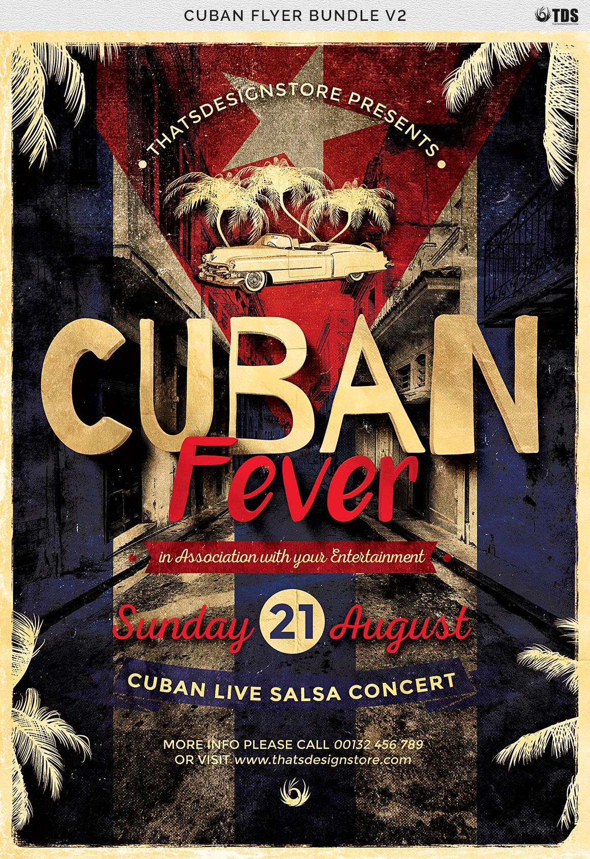 Cuban Flyer Bundle V2 example image 11