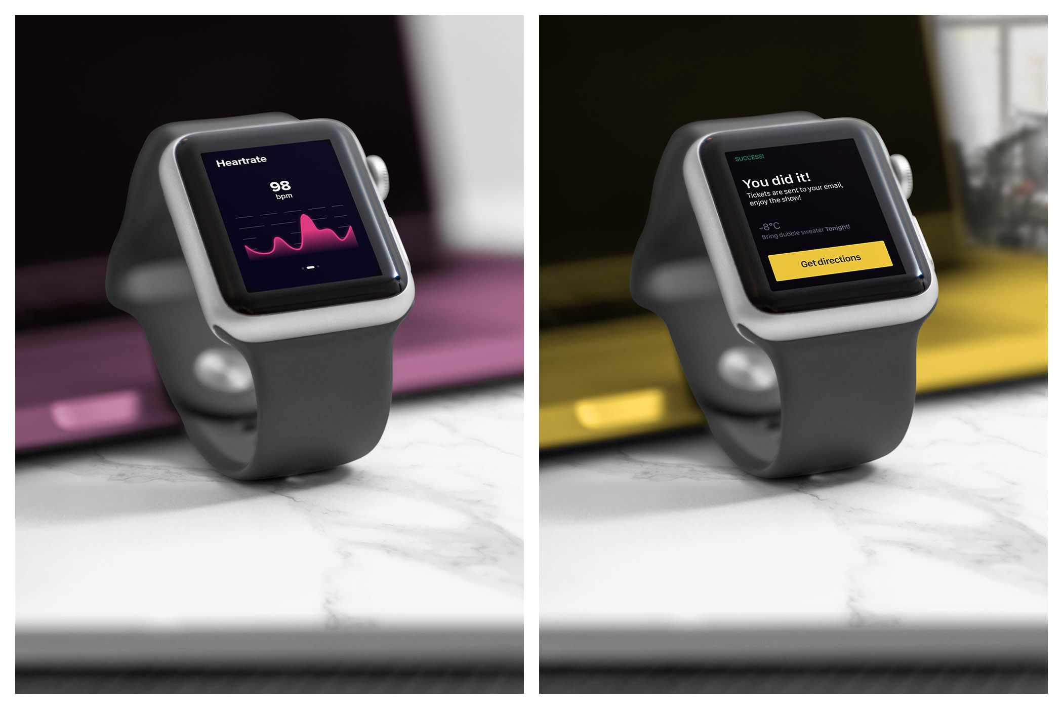 Realistic Smart Watch Mockups example image 5