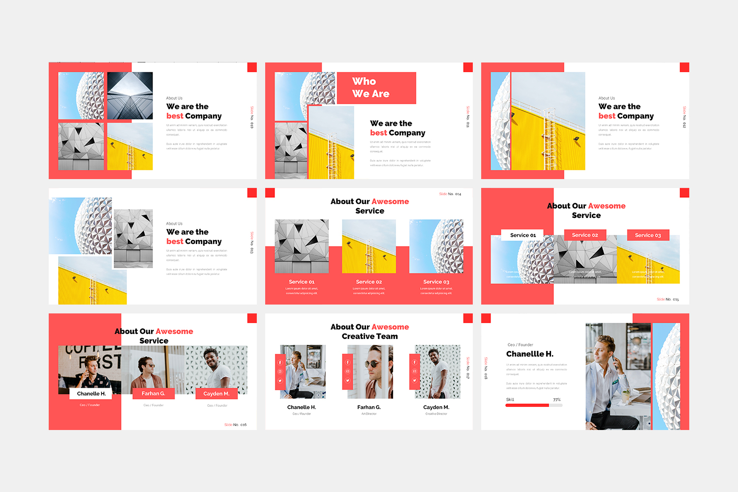 Architecture - Google Slide Template example image 3