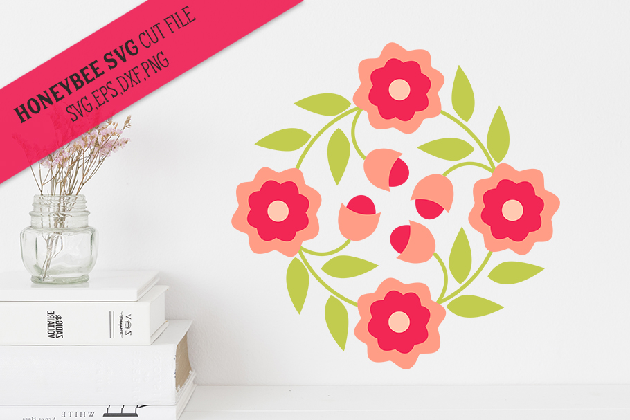 May Flowers Barn Quilt SVG Cut File example image 1
