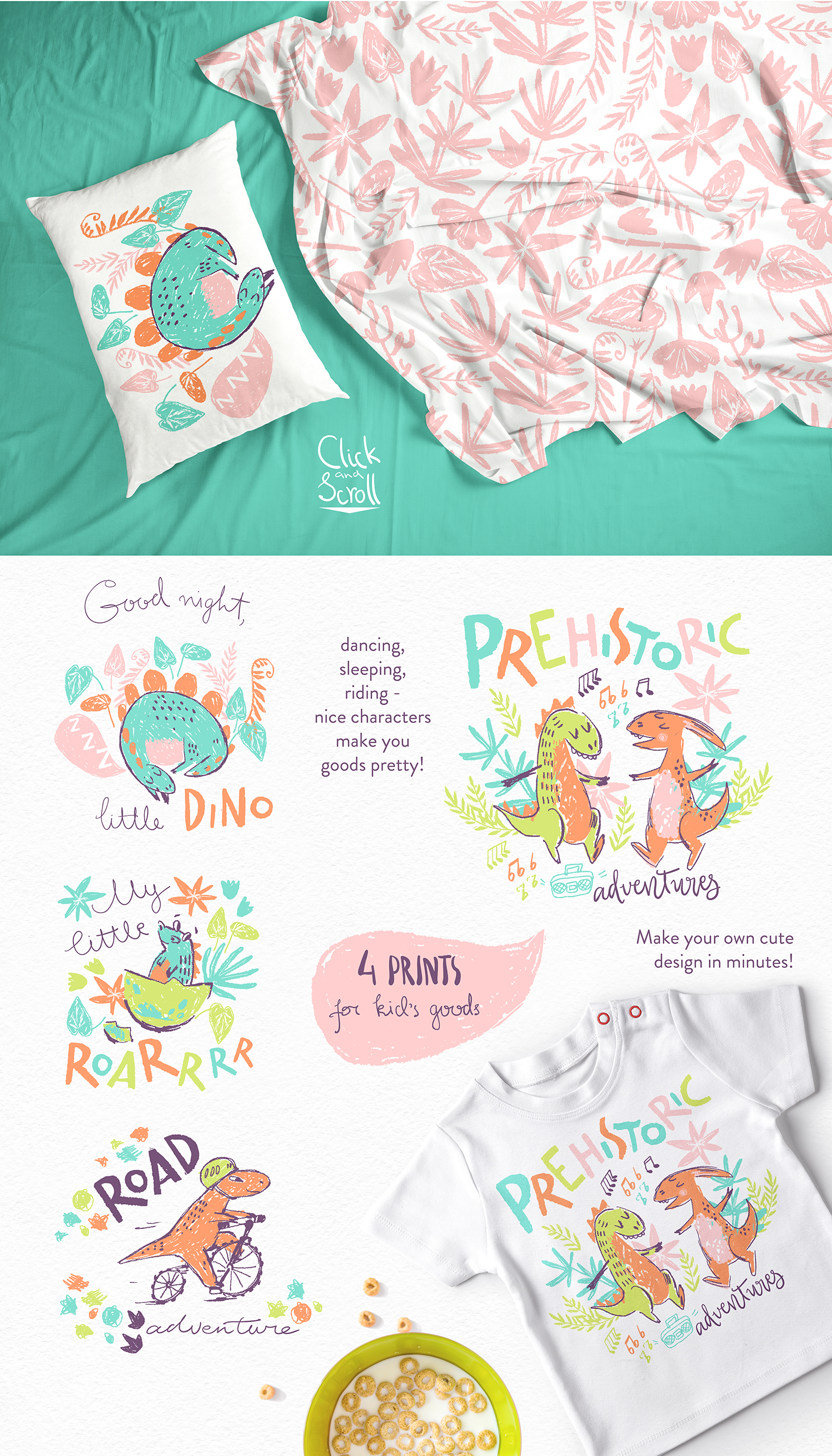 Hi, little DINO! Graphic kit example image 4