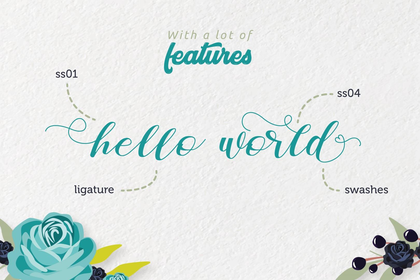 Zelifa - Lovely Font example image 5