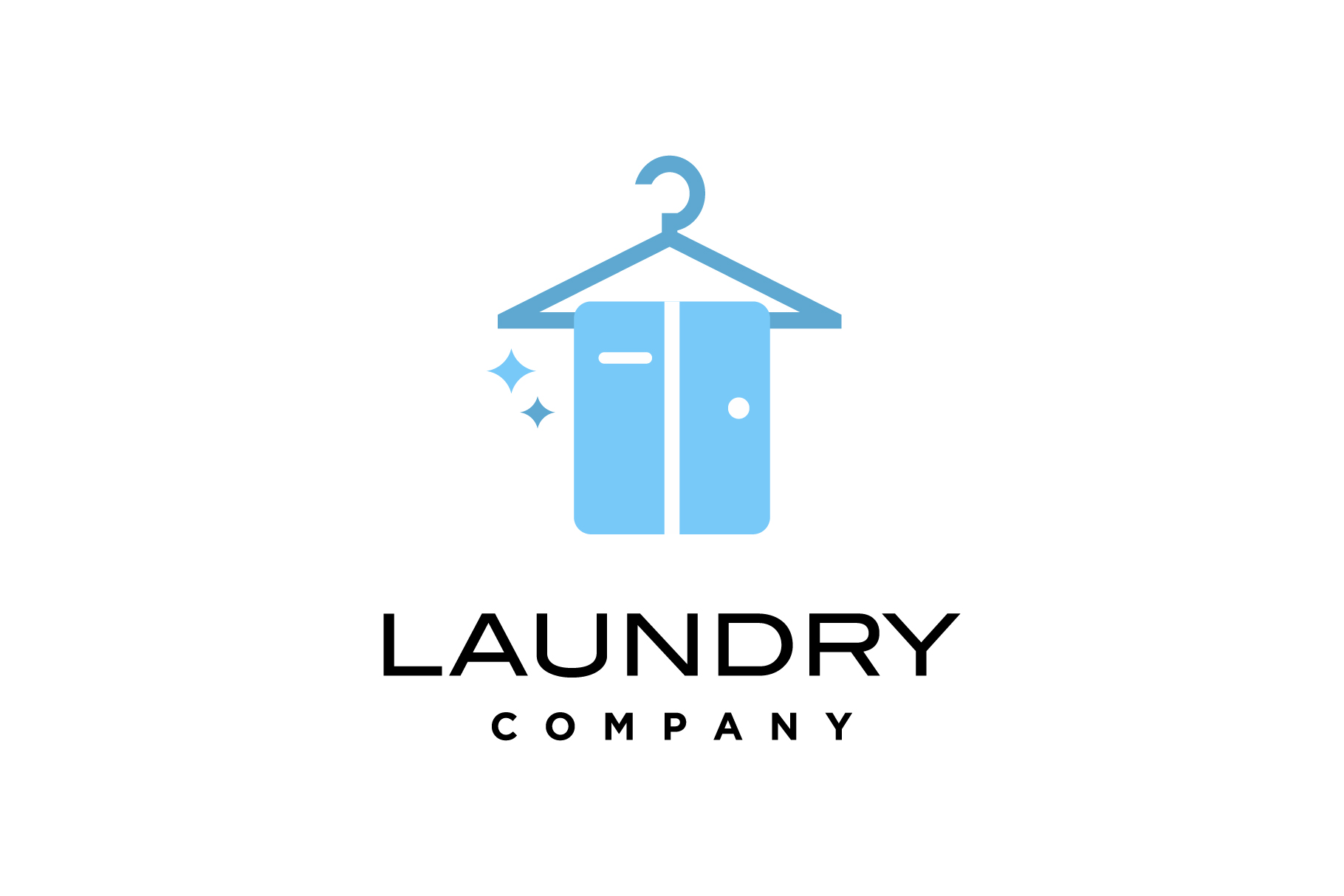 laundry clean clothes logo example image 1