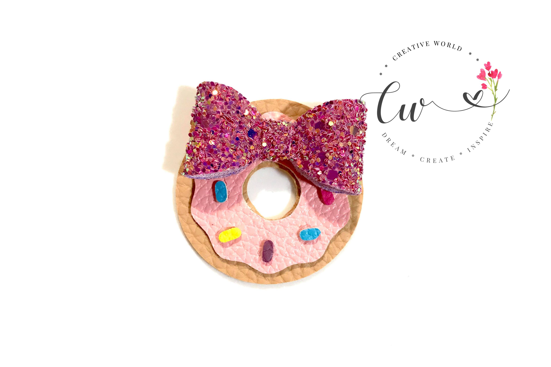 Cutie Donut Hair Clip Digital Template example image 2