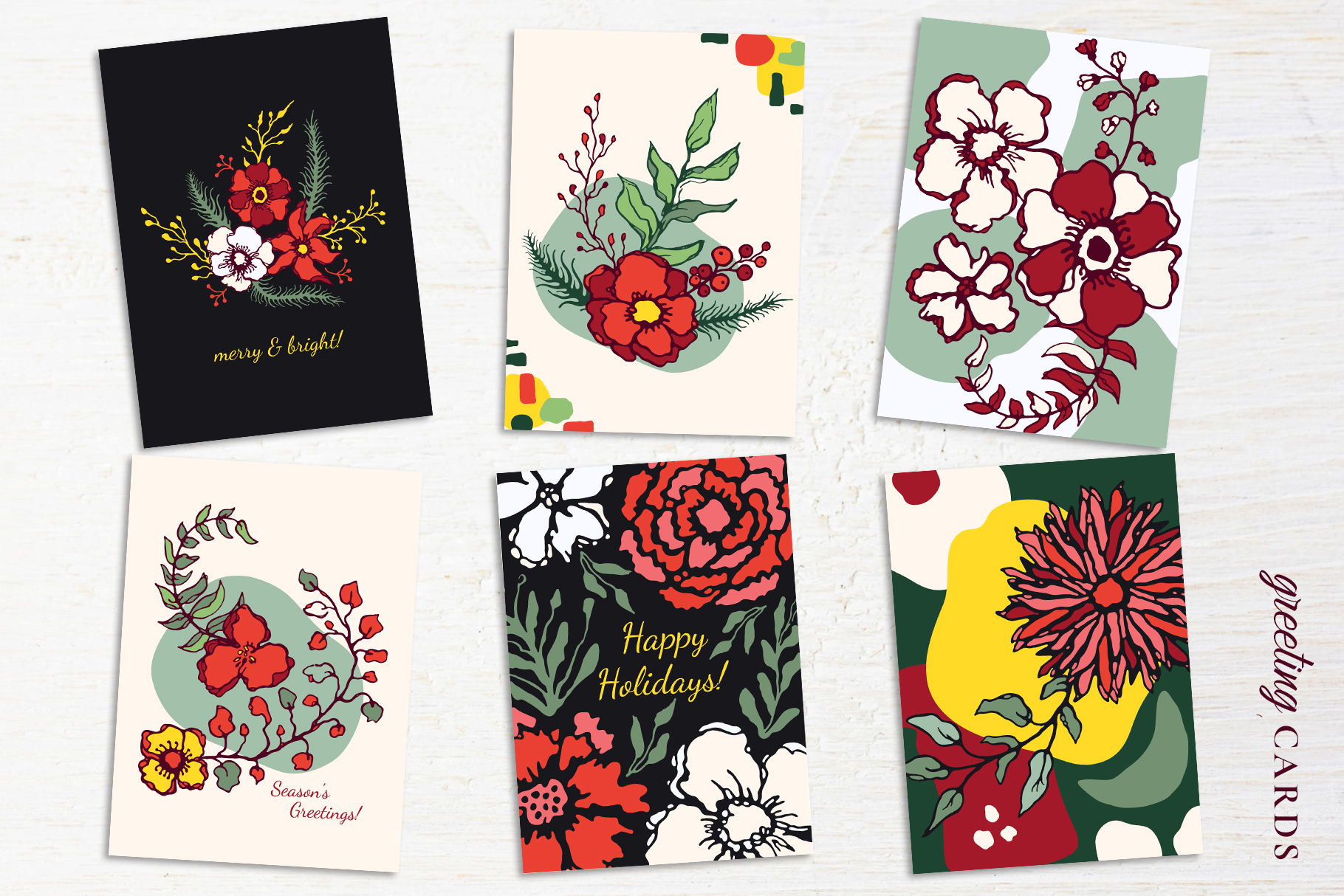 Winter Floral Patterns & Illustrations example image 19