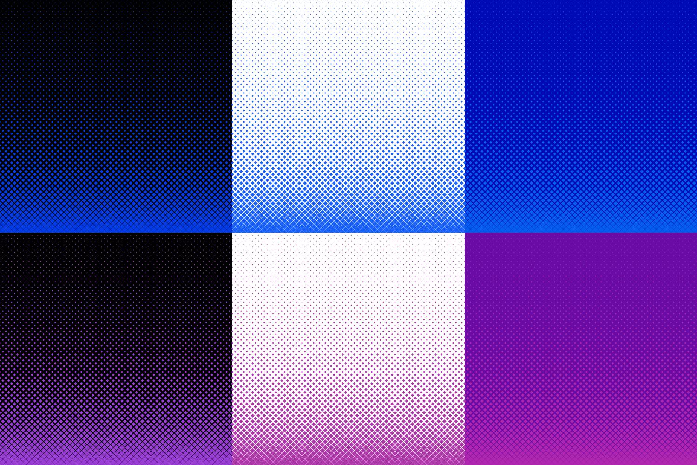 30 Halftone Square Backgrounds AI, EPS, JPG 5000x5000 example image 5