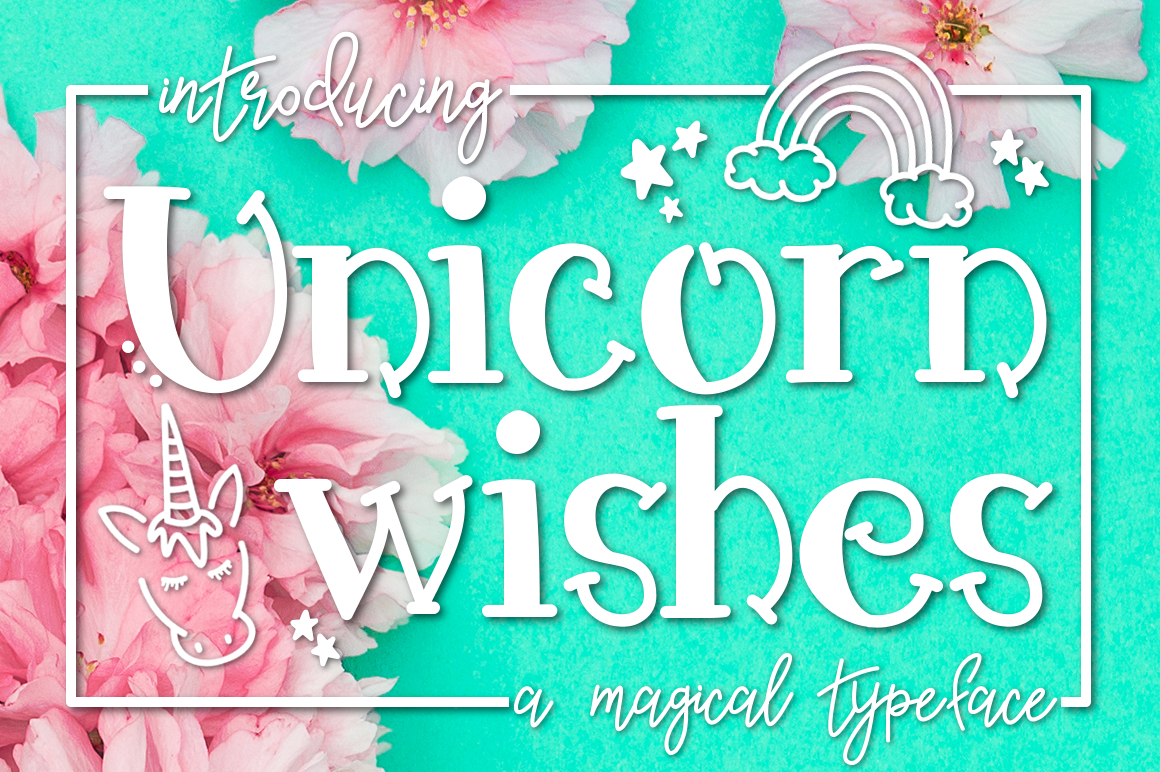Unicorn Wishes a Handwritten Typeface example image 1