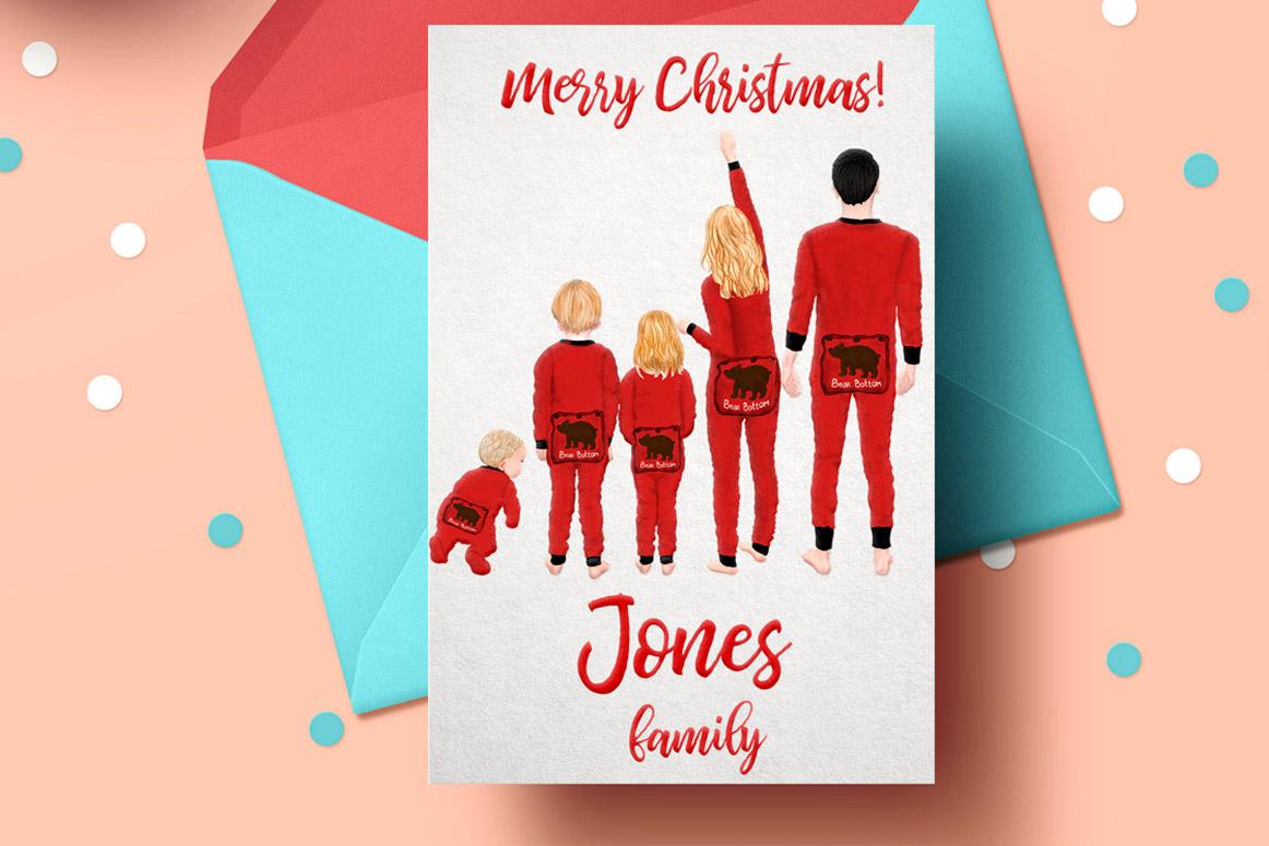 Watercolor Christmas Family Clipart Christmas Mug designs example image 3
