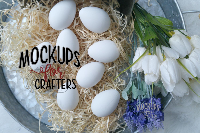 Easter Eggs - White - WalMart - Dollarama MOCK-UP example image 1