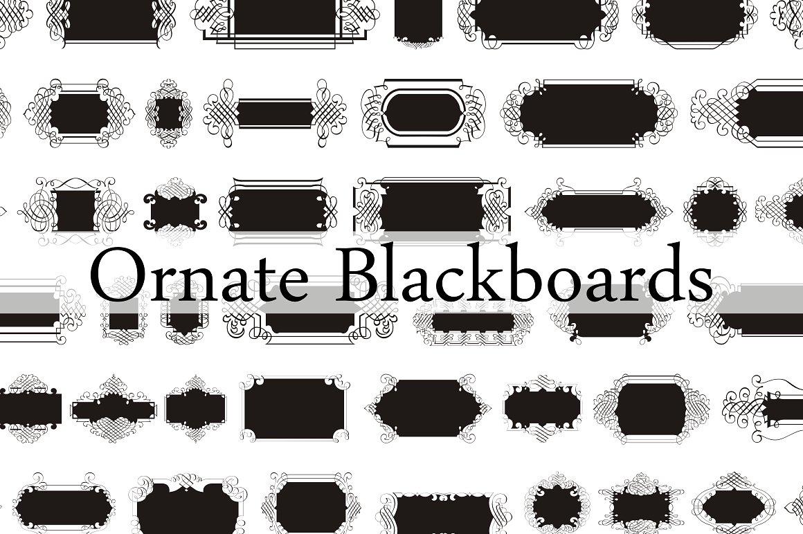 Ornate Blackboards pack example image 5